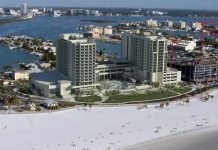 The Wyndham Grand Resort in Clearwater Beach, Florida, is on track to open Jan. 18.